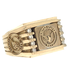 Military Navy ring
